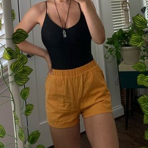 mustard yellow forever 21 shorts